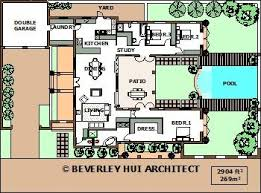 home plans with pools floor plan u stable plan shaped house plans with courtyard pool