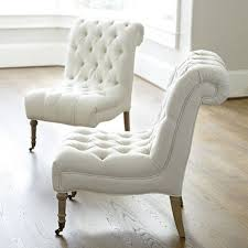 White Leather Wingback Chair Tufted Chair Brown Tufted Dining Chair Uniquely Shaped Chairs