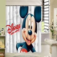 Mickey Shower Curtain Hooks Mickey Mouse Blackout Curtains Crib Bedding Set And Minnie Fabric