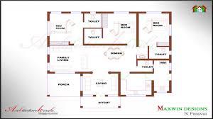 4 room house single floor 4 bedroom house plans kerala bedroom