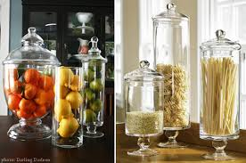 glass canisters for kitchen glass apothecary jars in the kitchen at home with vallee