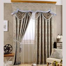 Curtains Valances Styles European Style Light Brown Geometric Jacquard Polyester Thermal