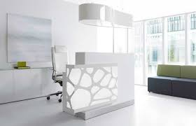 Small White Reception Desk Contemporary Modern Office Furniture Small White Reception Desk