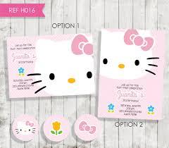 Hello Kitty Birthday Invitation Card Hello Kitty Birthday Invitation Invitation Hello Kitty Pink Free