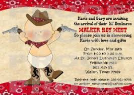 cowboy baby shower western horses rodeo invitations personalized