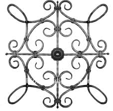 ornamental wrought iron scroll component for iron gate fence and