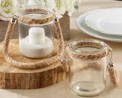 Mason Jar Tea Light Holder 24 Mini Clear Glass Jar Tea Light Holders Handle Wedding
