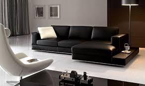 Sectional Sofa Black Fabulous Contemporary Black Leather Sofa Modern Black Leather