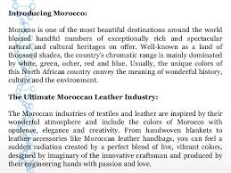 Meaning Of Opulence Special Charm Of Handcrafted Moroccan Leather Handbags