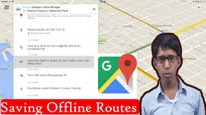 Google Maps Save Offline Google Map Save Offline Routes Youtube