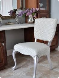 silver vanity chair foter