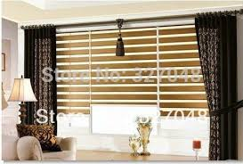Curtain With Blinds Free Shipping Popular Zebra Blinds Hanging Screen Room Divide