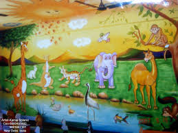 decal wall art mural play school wall paintingcartoon paintingkids room painting cartoon