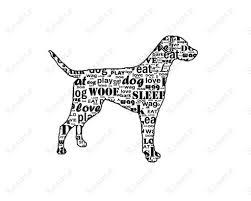 personalized labrador retriever silhouette word art black golden c