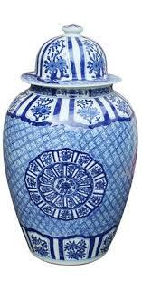 white ginger jar l blue white ginger jar lidded melon jar porcelain and pottery