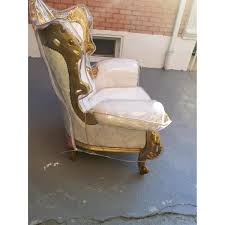 vintage rococo style sofa loveseat 2 chairs aptdeco vintage rococo style sofa loveseat 2 chairs 1