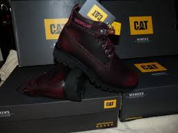 womens caterpillar boots uk womens caterpillar melody leather boots in wine uk size 4 ebay