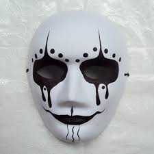 new quality handmade diy mask halloween white ghost face mask