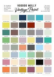 vintage paint colour chart grace and glory
