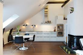 Modernist Kitchen Design Attractive Loft Apartment With Classic Details In Stockholm