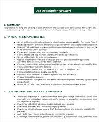 welder job description 10 free word pdf documents download