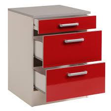 meuble de cuisine bas pas cher meuble bas de cuisine contemporain 60 cm 3 tiroirs blanc