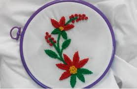 Fish Bone Stitch Embroidery Tutorials Embroidery Fishbone And Knot Stitch