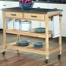 black kitchen island with stainless steel top castleton home kitchen island cart with stainless steel top