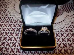 wedding rings in box ct princess cut engagement wedding ring set new midlothian in