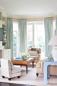 bay window curtain ideas designs home decor living room for