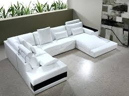 U Sectional Sofa U Shaped Modern White Leather U Shaped Sectional