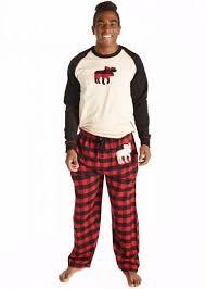 moose plaid family pajama set trendsetter