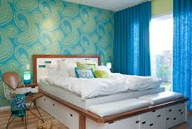 Wallpaper And Curtain Sets Charmingly Modern Bedroom Design Ideas