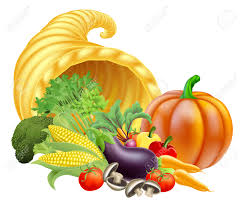 thanksgiving or golden horn of plenty cornucopia of