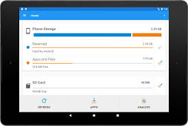 storage space android apps on google play