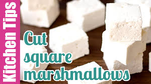 how to easily cut homemade marshmallows kitchen tip 2 youtube
