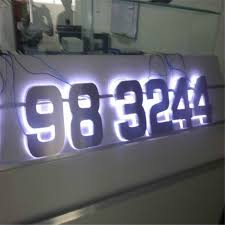 Lighted House Number Sign Decorative House Number Signs Surprising Most Lighted Numbers Home