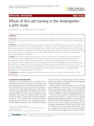 effects of first aid training in the kindergarten a pilot study