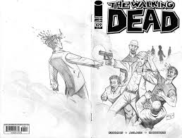 the walking dead sketch cover by armalarm on deviantart