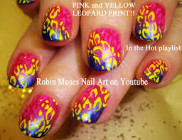 nail design for short nails diy easy rainbow animal print
