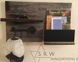Barnwood Wall Shelves Wood Wall Organizer Etsy