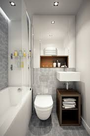 Small Bathroom Grey Tiles Interior Small Bathroom With Wall Mounted Toilet And Corner