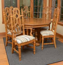 vintage dining table with leaf inserts and chairs ebth