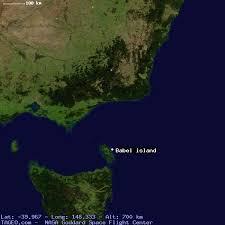 island on map babel island tasmania australia geography population map cities
