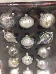kirkland signature 14 pc decorated glass ornaments costcochaser