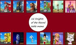 12 knights paw patrol table arvinsharifzadeh deviantart