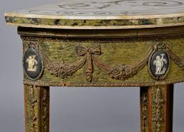 adam style lot 97 adam style marble wedgwood console tables