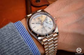 rolex ads 2015 introducing the rolex day date 40 with the new calibre 3255 live