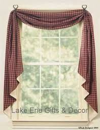Primitive Swag Curtains Primitive Fishtail Swag Curtains For The Home Swag