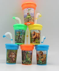 favor cups 6 the dinosaur stickers birthday sipper cups with